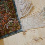 Naprawa frędzli w dywanie orientalnym