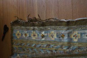 Uszkodzony brzeg kilimu