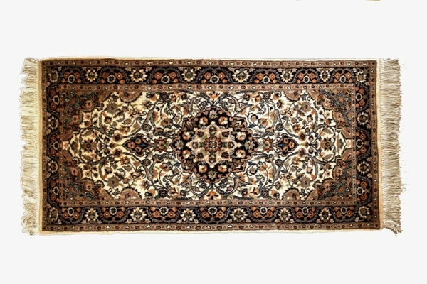 Dywanik wełniany na bawełnie