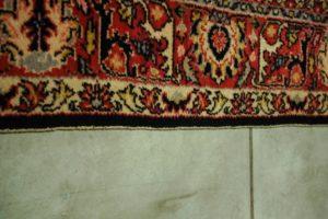 Rant dywanu przed obszyciem