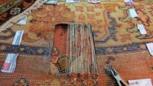 Renowacja starego dywanu