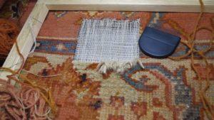 Renowacja dywanu na półmetku