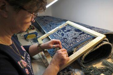 Renowacja narożnika dywanu