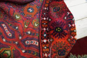 Prawa strona dywanu po naprawie