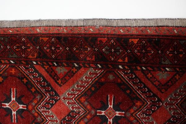 Bok dywanu wełnianego